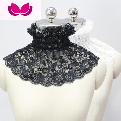 春夏秋季韓國新款堆堆領高領假領子女蕾絲假領圍脖套頭假衣領