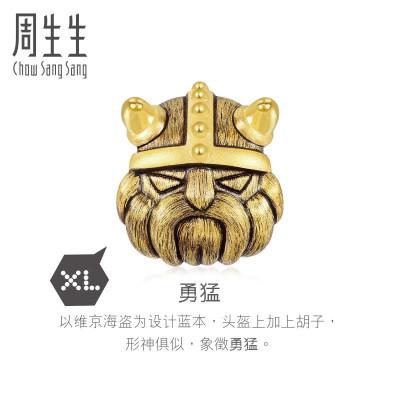 周生生 白敬亭代言 黃金手鏈Charme系列勇猛XL足金串珠90097C定價