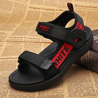 刺桐先生夏季兒童涼鞋男童鞋中大童學生沙灘鞋軟底魔術貼防滑露趾寶寶兒童鞋