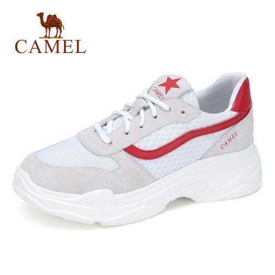 Camel/駱駝女鞋2019新款 運動鞋韓版原宿百搭老爹鞋透氣鞋子