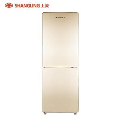 上菱冰箱 BCD-185WKY 风冷无霜 185L 双门小冰箱 金色面板 冷藏冷冻单独调节温度 家用电冰箱 静音节能