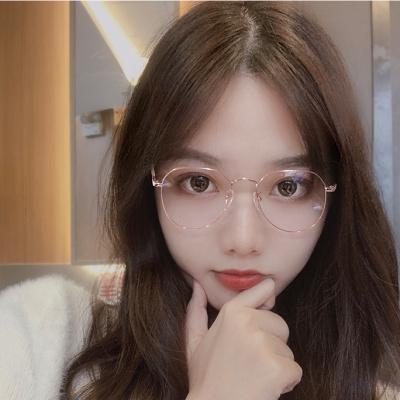 【精品好貨】韓版學生防藍光防輻射復古近視眼鏡框女網紅同款多邊形眼鏡男 邁詩蒙