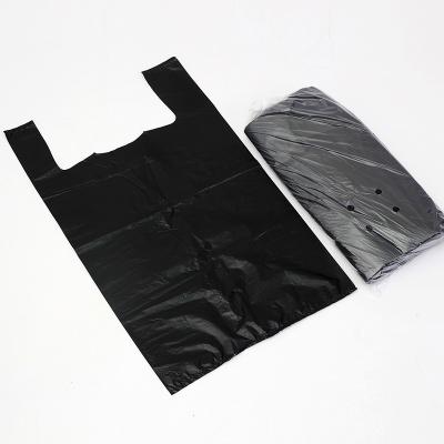 欧润哲(ORANGE) 40升通用垃圾袋100只装 手提背心式加厚收纳胶袋酒店办公室家用厨房清洁袋