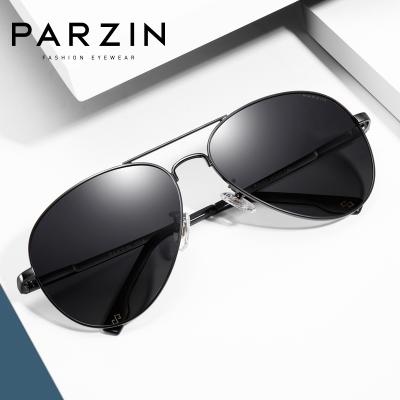 帕森PARZIN 太阳镜男士潮流偏光太阳眼镜开车专用墨镜时尚炫彩蛤蟆镜8023