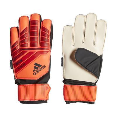 正品现货adidas青少年足球守门员手套带护指比赛训练DN8567