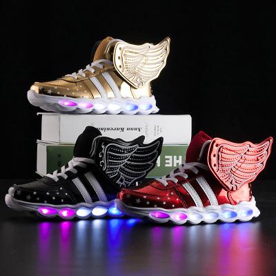 梵蒂加(VENTIGA)兒童鞋2020新款BH-A1608翅膀燈鞋USB充電燈鞋童鞋發光鞋兒童亮燈鞋男女童閃燈鞋
