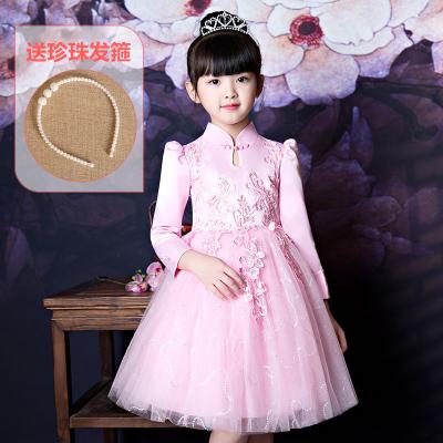 公主裙女童春季童裝兒童高貴禮服連衣裙小女孩洋氣蓬蓬紗裙子