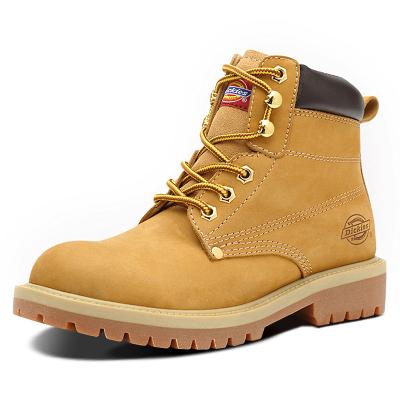 Dickies女鞋复古马丁靴女英伦风学生女靴子冬季高帮真皮大黄靴女163W50LXG27