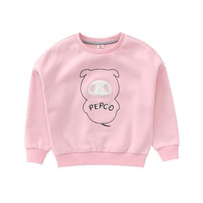 小猪班纳童装女童长袖T恤2019秋装新款韩版潮洋气卡通卫衣