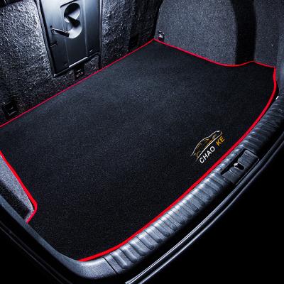 新一代起亚K2改装k3S傲跑KX3/KX5/KX7凯绅K4装饰K5内饰后备箱垫子 车型留言【红边】个性刺绣后备箱垫