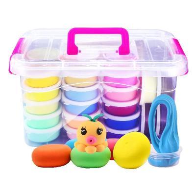 24色收納盒送模具配件 超輕粘土工具套裝24色 橡皮泥 無毒彩泥 兒童玩具