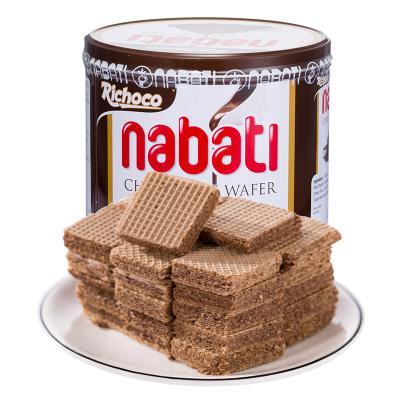 印尼進口零食麗芝士威化餅干350g/罐巧克力味餅干桶裝