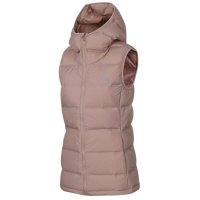阿迪達斯(adidas)冬季新款女子防風保暖運動服連帽羽絨背心馬甲CZ2313
