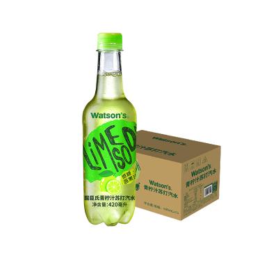屈臣氏(Watsons)青柠汁苏打汽水 420ml*15瓶 整箱装