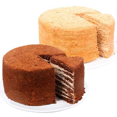 斯戈夫SAMKOND俄羅斯原裝進口食品蛋糕提拉米蘇點心蛋糕500克*2盒裝零食提拉米蘇休閑食品