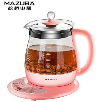 松桥(MAZUBA)养生壶SQ-Y511 多功能智能家用办公室高硼硅玻璃电煮茶壶 触控式煎药壶花茶器煲茶壶烧水壶