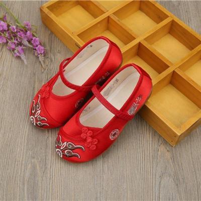 兒童繡花鞋女中國風古裝老北京漢服童鞋子民族風女童寶寶公主布鞋
