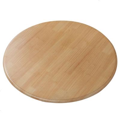 实木餐桌圆盘转盘现代简约家具圆桌户外圆桌家用饭桌小吃店小圆桌