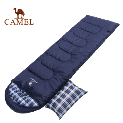 CAMEL骆驼户外1.8KG睡袋 2019新款户外旅行露营加厚防寒单人便携隔脏可拼接睡袋