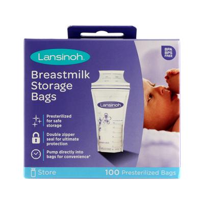 Lansinoh 母乳儲存保鮮袋 存儲袋100片儲奶袋/瓶 低密度聚乙烯材質 原裝進口