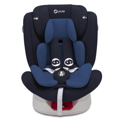 路途乐汽车儿童安全座椅isofix硬接口 360°旋转 坐躺可调0-12岁宝宝座椅 Air S+ 摩洛蓝
