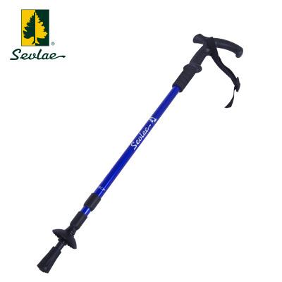 sevlae圣弗萊戶外登山杖徒步T型手杖3節伸縮鋁合金輕便登山拐杖拐棍9153677202