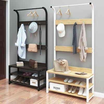 衣架落地卧室置物架家用简易挂衣架简约现代挂衣服架子进门衣帽架