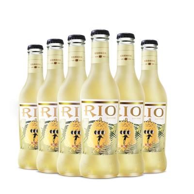 銳澳(RIO)洋酒 雞尾酒 預調酒果酒(榴蓮口味)275ml*6瓶