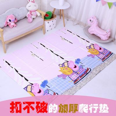 小豬巴比 小豬佩奇XPE加厚1cm爬行墊 雙面可折疊男孩女孩寶寶地墊兒童嬰幼玩具150*200*1cm 6個月以上