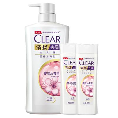 清揚 (CLEAR) 去屑洗發水 櫻花沁爽型 500g+100g*2 適用于成人 所有發質 【聯合利華】