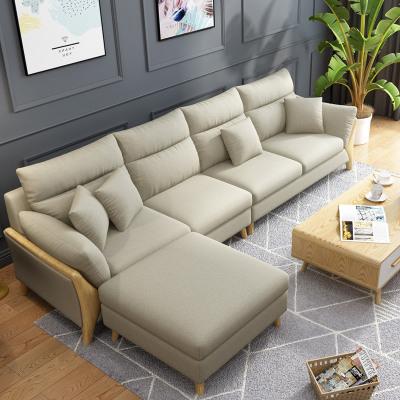 枳記家 北歐日式簡約現代客廳整裝轉角家具布藝可定制小戶型沙發