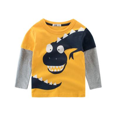 2020童裝春款新品男童T恤 恐龍 寶寶上衣兒童打底衫元氣小猴STRONG MONKEY
