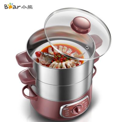 小熊(Bear)電蒸鍋 DZG-D80A1 8升雙層大容量蒸菜 立體循環加熱 食品級不銹鋼內膽可火鍋 電火鍋