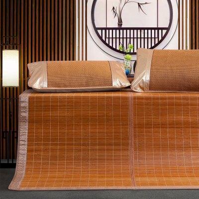 百麗絲家紡 水星出品 可折疊席子竹涼席 竹嵐/竹曦碳化竹席席子 床上用品