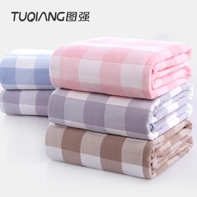 圖強 蘇格拉格六層紗布吸濕透氣雙人加大加厚毛巾被 蓋毯