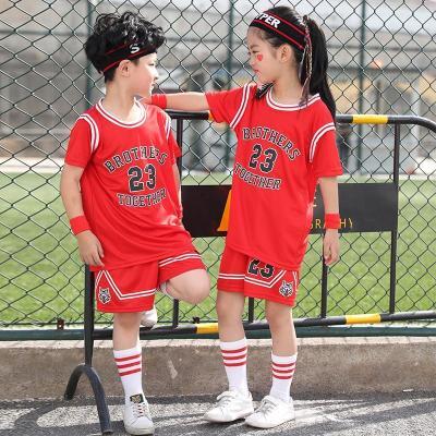 星客士 兒童籃球服套裝男女童球衣六一幼兒園表演服中小學生訓練球服