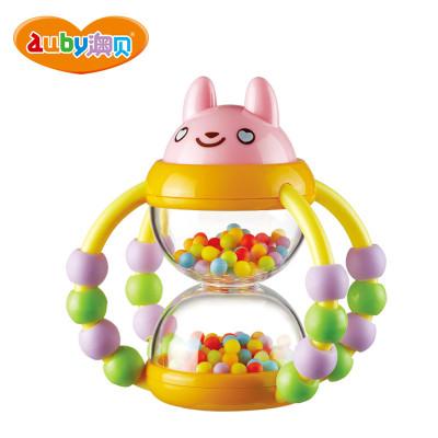 澳貝(AUBY) 益智玩具 花籃沙漏搖鈴 嬰幼兒童搖鈴牙膠 塑料搖鈴 0-6個月 183*60*213 463104DS