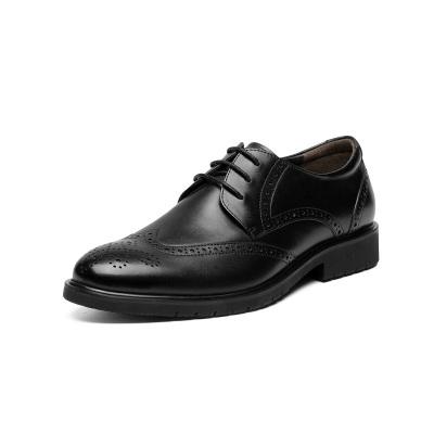 七面男士布洛克德比皮鞋CC703C01 黑色 38码