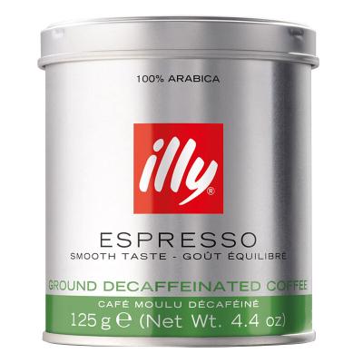 【低咖啡因】意利(illy)低咖啡因咖啡粉 125g/罐 黑咖啡 进口咖啡粉 进口咖啡 原味咖啡 意大利进口