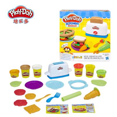 孩之寶Hasbro培樂多4色彩泥橡皮泥DIY3歲以上男女孩兒童創意玩具禮物制作創意廚房系列美味吐司套裝E0039