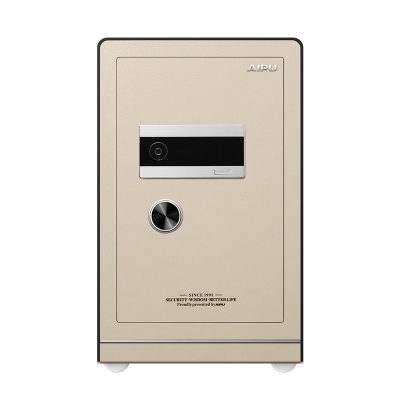 AIPU艾譜指紋保險柜3c認證 家用入墻辦公防盜 鑰匙密碼指紋 保險箱/柜保險柜30-100cm 土豪金