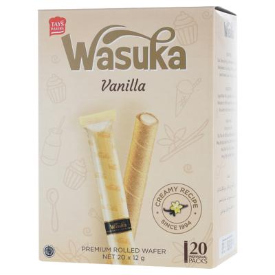 哇酥咔(WASUKA)香草味爆浆威化卷240g