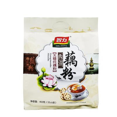 智力 无糖纯藕粉400g(内含20小袋)杭州西湖藕粉早餐代餐粉手工粉