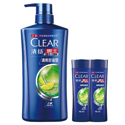 清揚(CLEAR) 洗發水 補水套裝 男士去屑洗發露 清爽控油型 500g+100g*2【聯合利華】