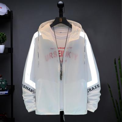 波斯萊 防曬衣男2020夏季新款戶外防潑水運動長袖連帽外套男士輕薄夾克騎車釣魚皮膚衣E