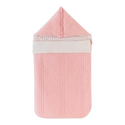 良良(liangliang) 嬰兒抱被 新生兒針織夾棉寶寶秋冬包裹式抱毯包被 被類