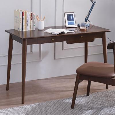 家逸實木書桌電腦桌北歐簡約辦公桌寫字臺家用中小學生學習桌