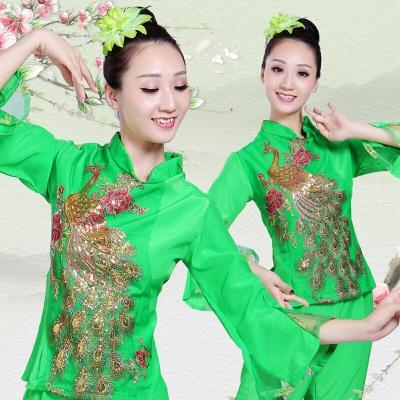 秧歌服2020中老年東北腰鼓扇子舞現代廣場舞民族舞蹈演出服裝