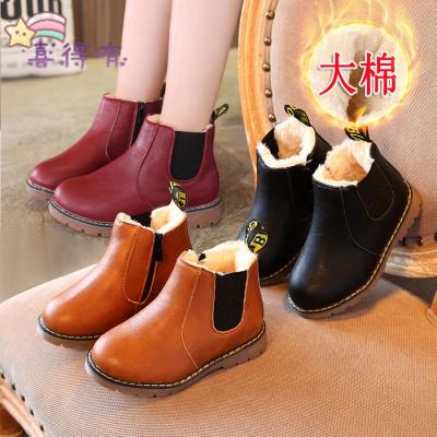 新款儿童雪地靴男女童靴子冬季加绒加厚棉鞋小孩短靴宝宝马丁靴