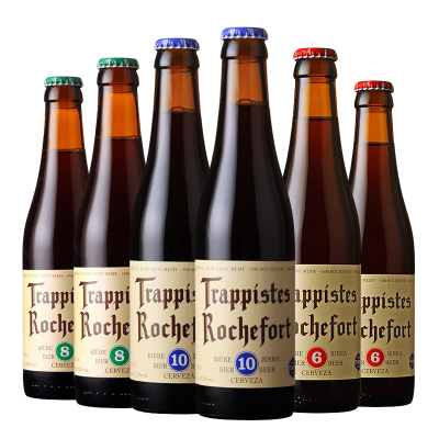 比利時進口啤酒羅斯福6/8/10號啤酒330ml*6瓶組合修道院精釀烈性啤酒